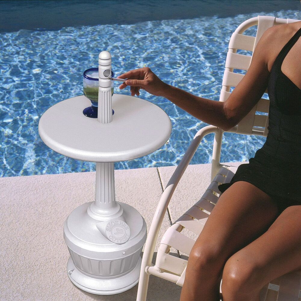 Receptacle Commercial Cigarette Ashtray With Patio Table Blow Molded Polyethylen Ebay