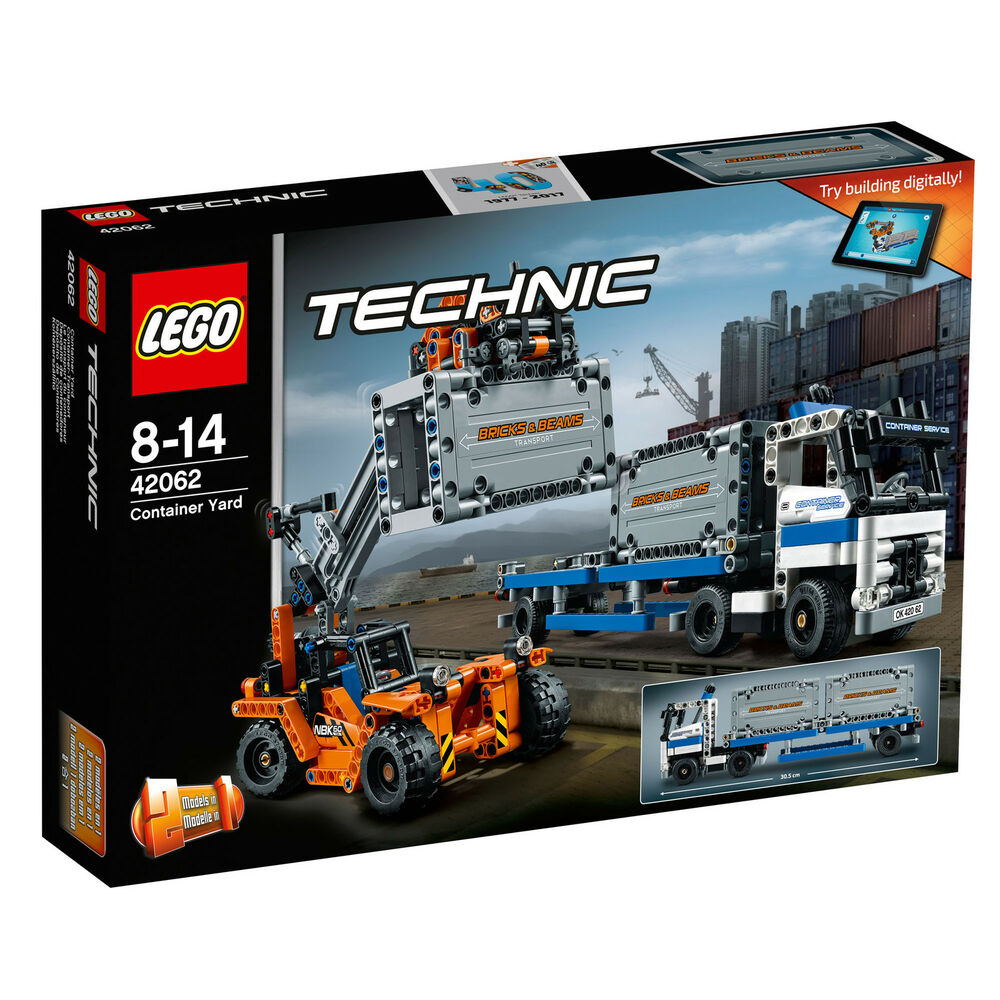 42062 lego technic container yard 2 in 1 truck set 631 pieces age 8 14 new 2017 ebay. Black Bedroom Furniture Sets. Home Design Ideas