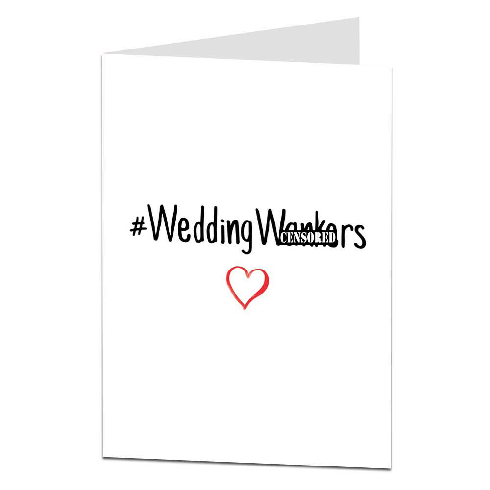 Wedding Gift List Rude : Congratulations Wedding Just Married Card / Funny / Rude / Engagement ...