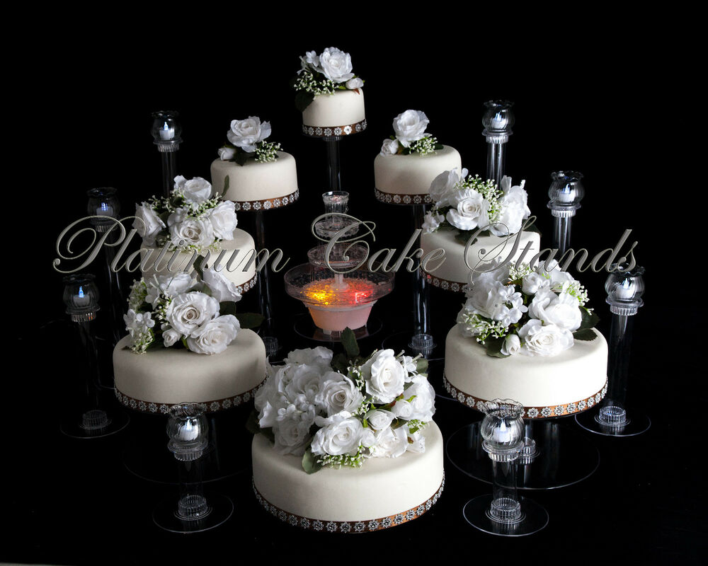 wedding cake settings 8 tier cascade wedding cake stand and 8 glass votive set 24327