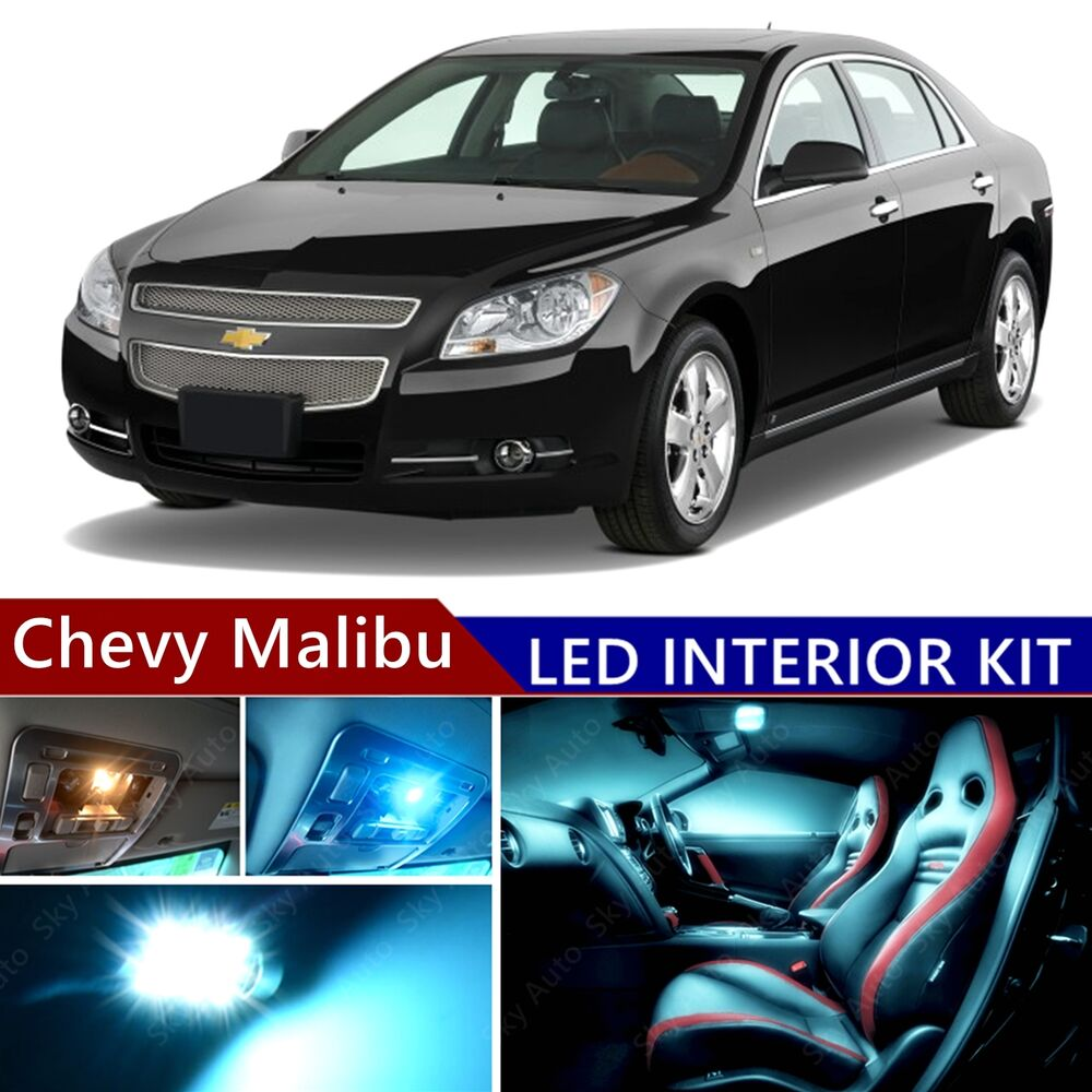 10 pcs led ice blue light interior package kit for chevy. Black Bedroom Furniture Sets. Home Design Ideas