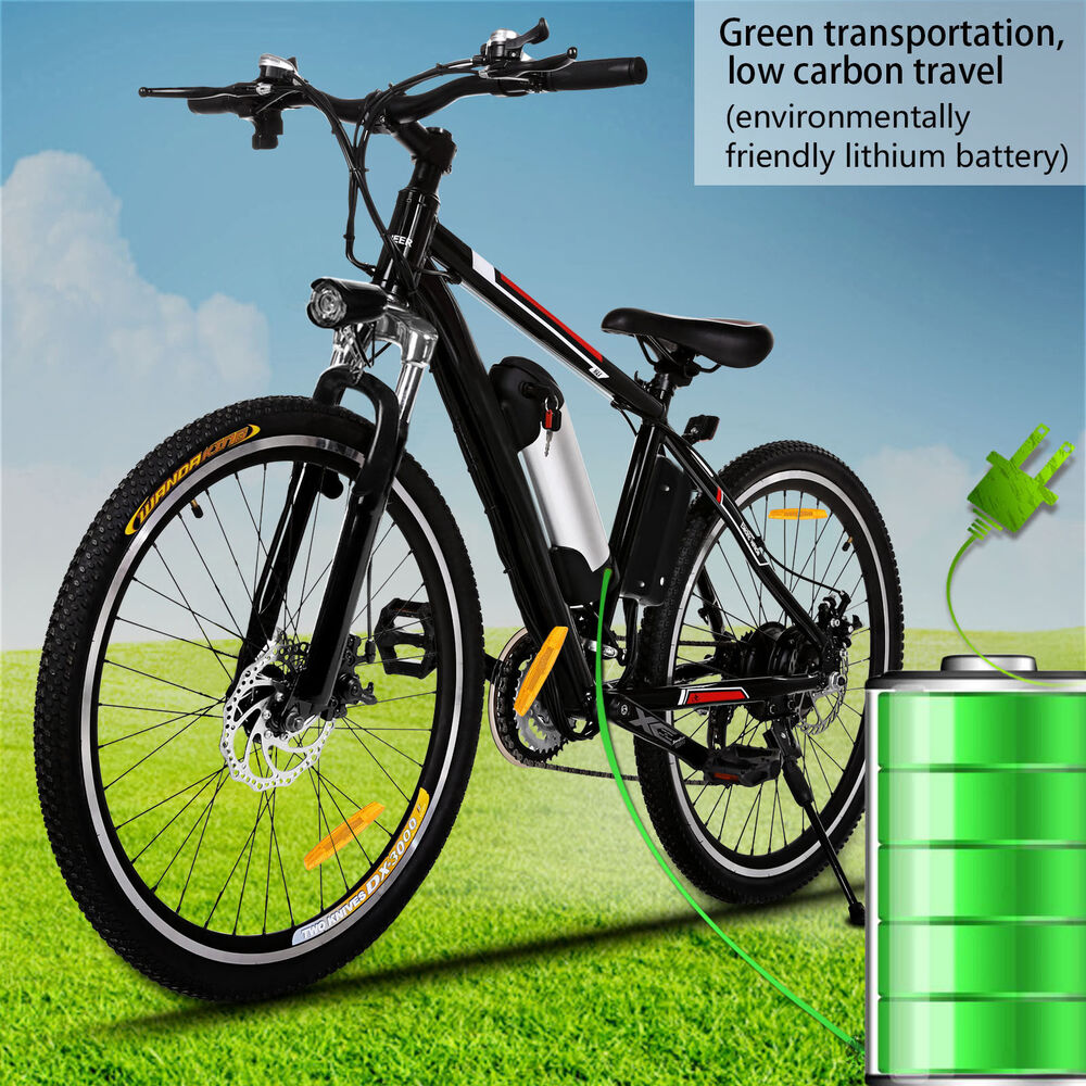 26 27 speed electric mountain bike bicycle ebike 36v. Black Bedroom Furniture Sets. Home Design Ideas