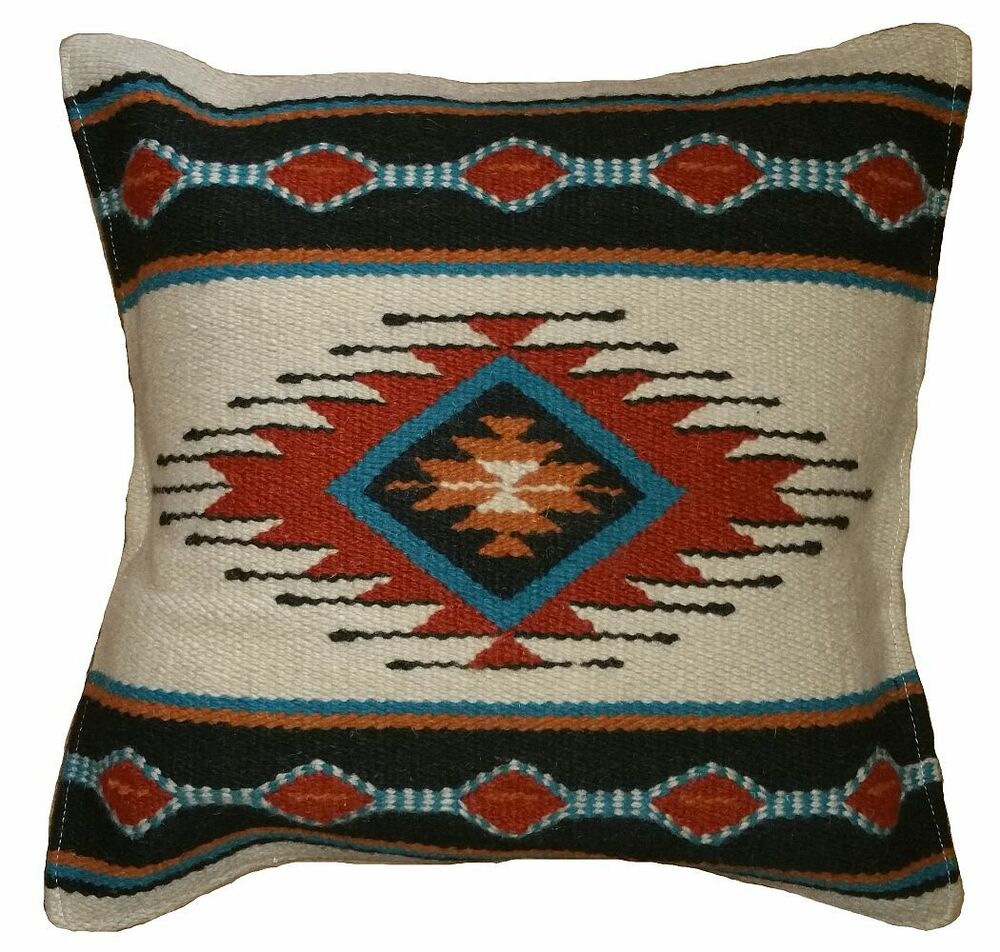 Southwestern Style Wool Accent Pillow Cover - Pattern UU - 18x18 - FREE SHIPPING eBay