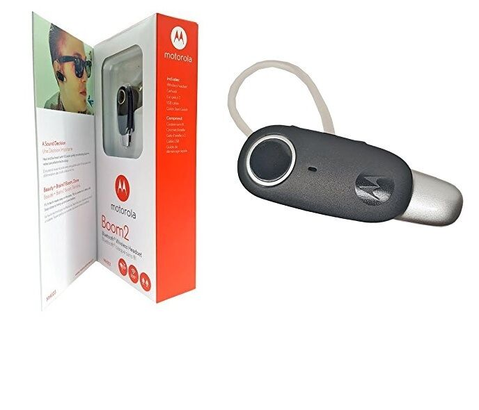 oem motorola boom 2 boom2 mh003 bluetooth wireless headset. Black Bedroom Furniture Sets. Home Design Ideas