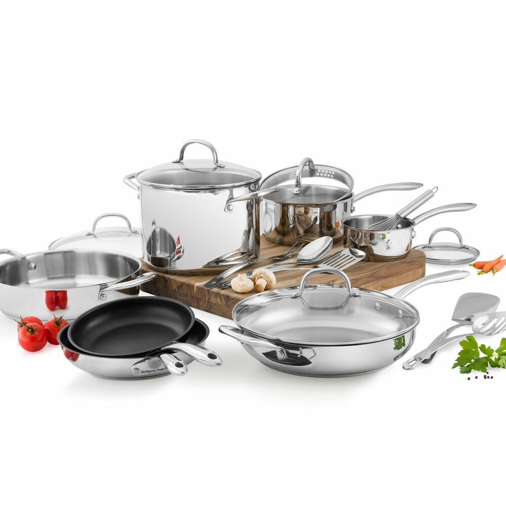 Wolfgang Puck S   Stainless Cafe Collection Cookware