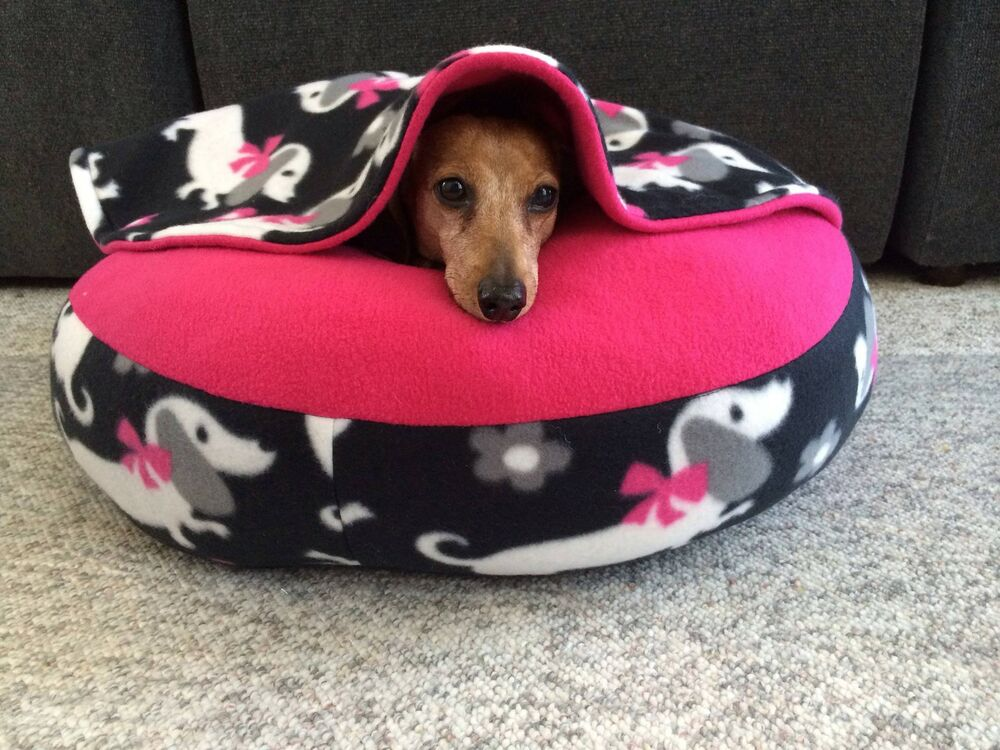 NEW Dachshund Small Dog Bed Snuggle Bed for Burrowing Dog