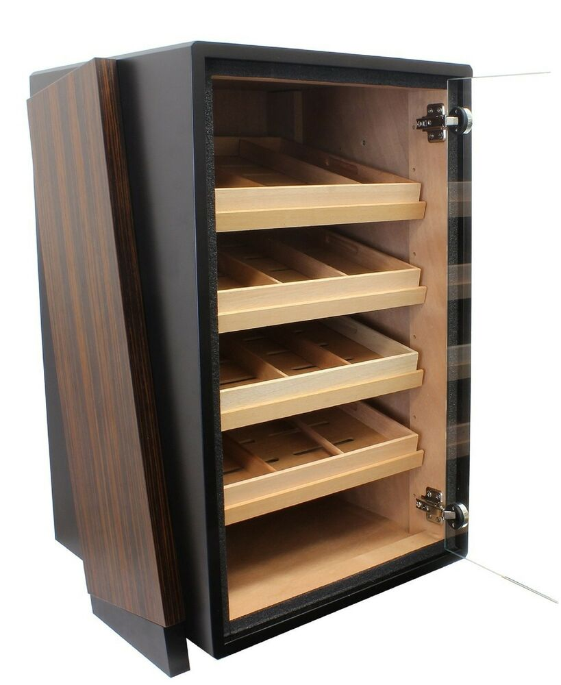 humidor schrank f r 300 zigarren 4 schubladen abschlie bar glast r ebay. Black Bedroom Furniture Sets. Home Design Ideas