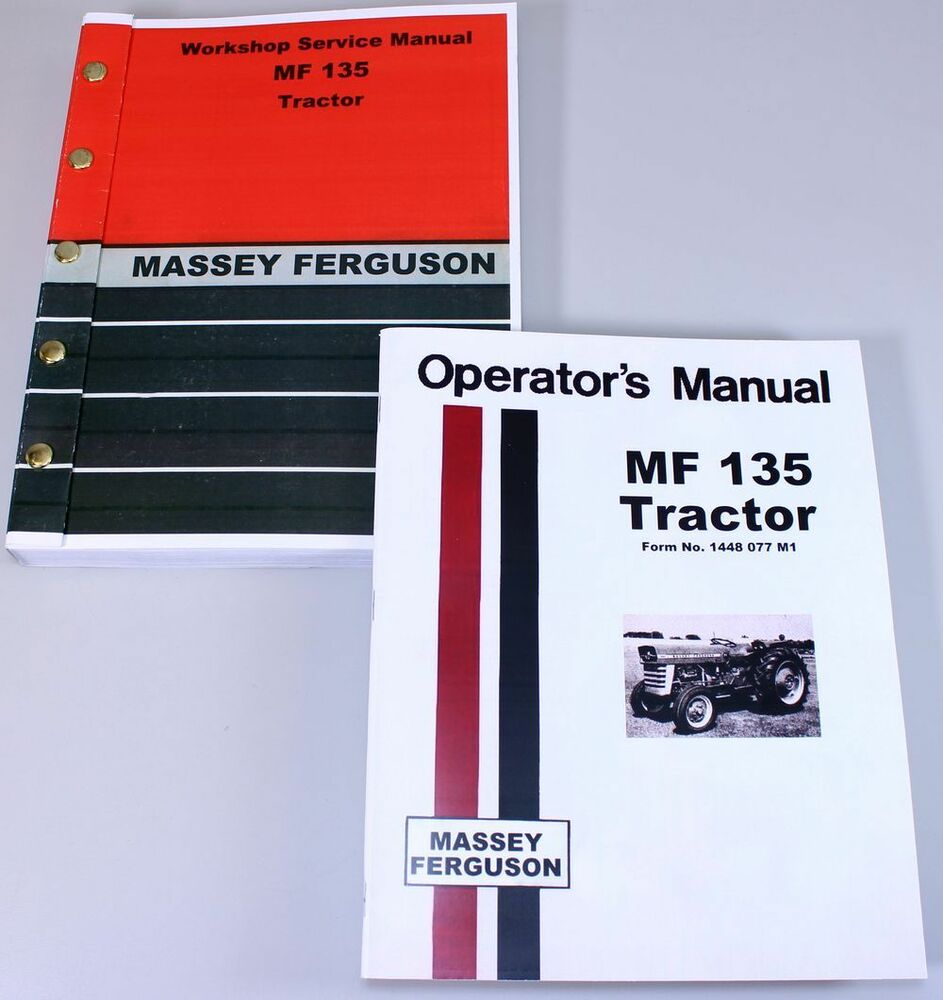 MASSEY FERGUSON MF 135 TRACTOR SERVICE OWNERS OPERATORS MANUAL BOOK REPAIR  MF135 | eBay