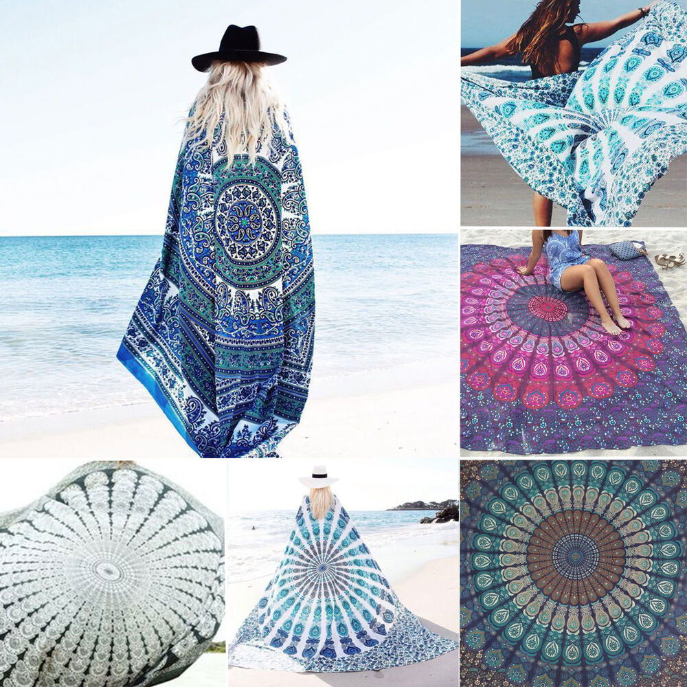 indisch mandala tapisserie boho wandbehang deko strandtuch yoga matte tagesdecke ebay. Black Bedroom Furniture Sets. Home Design Ideas