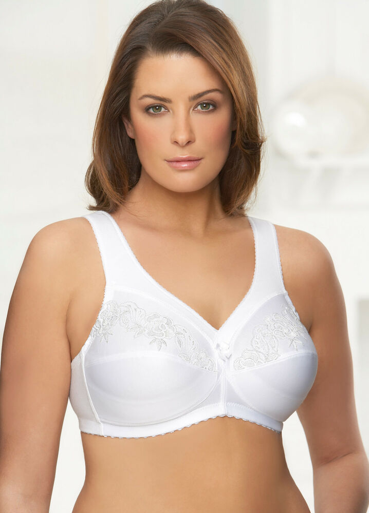 Glamorise Bra Full Figure Support Embroidery Wirefree