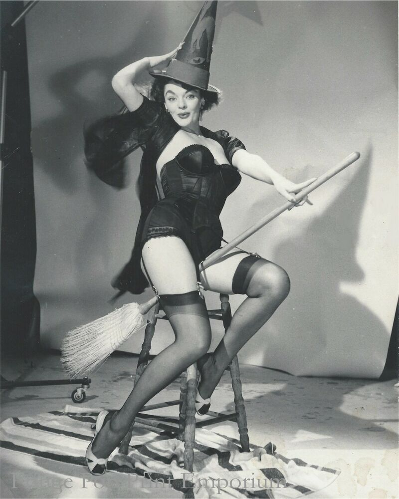 8x10 print - gil elvgren pin up painting ref photograph - witch