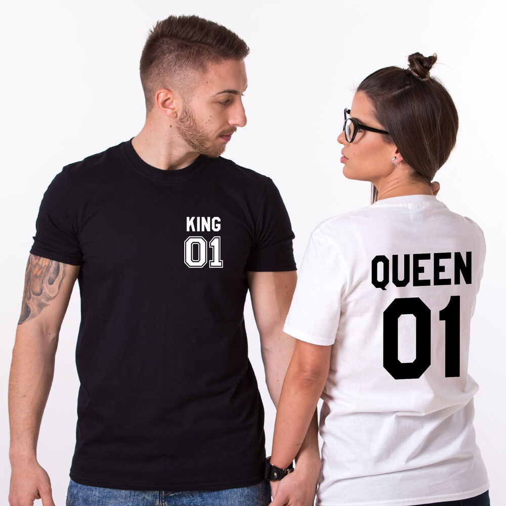 king and queen matching couples shirts custom numbers