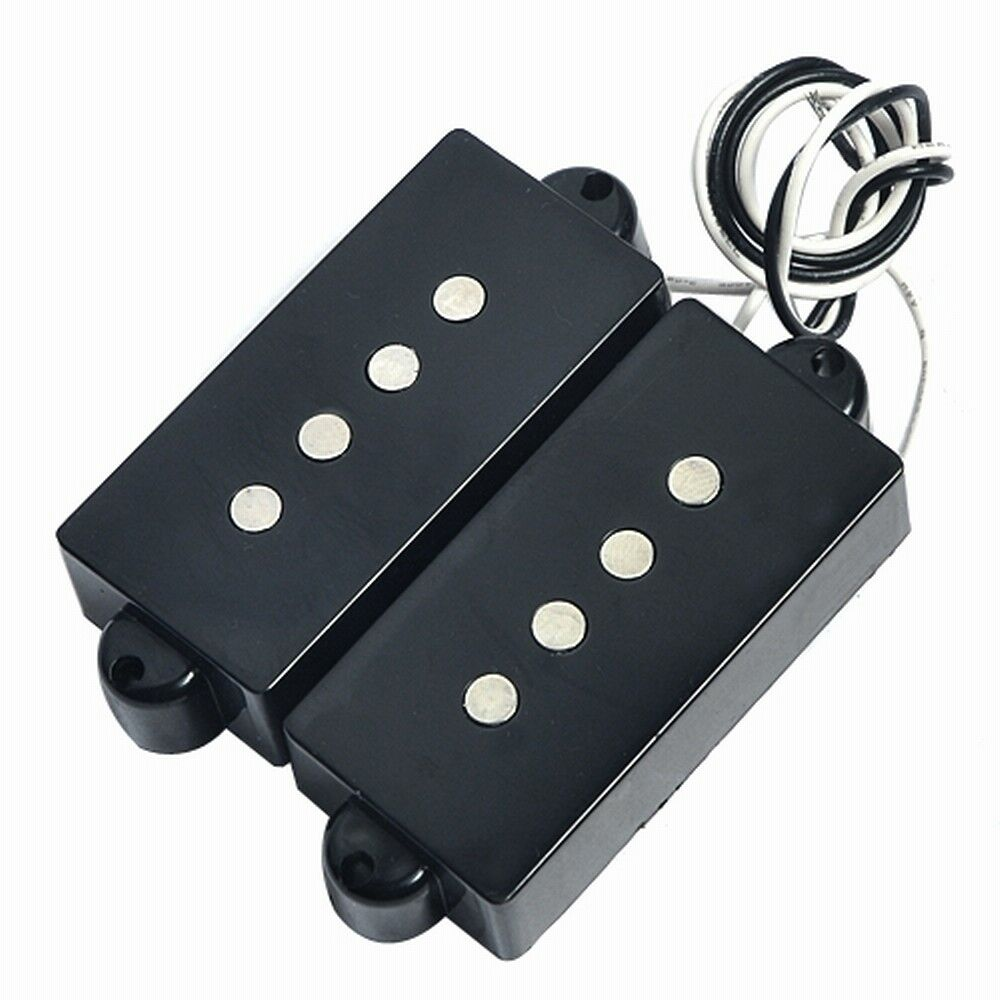 set vintage electric guitar pickups for 4 string precision p bass black parts 634458282543 ebay. Black Bedroom Furniture Sets. Home Design Ideas