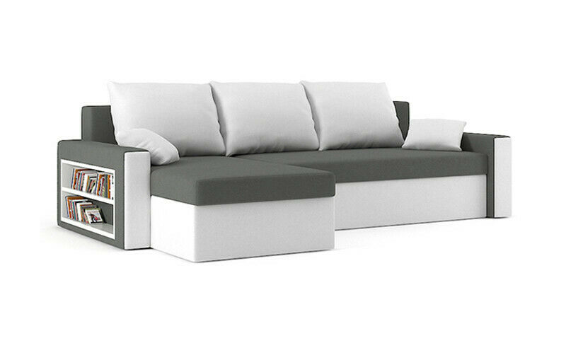 ecksofa drive mit schlaffunktion dreisitzer eckcouch mit bettkasten ebay. Black Bedroom Furniture Sets. Home Design Ideas