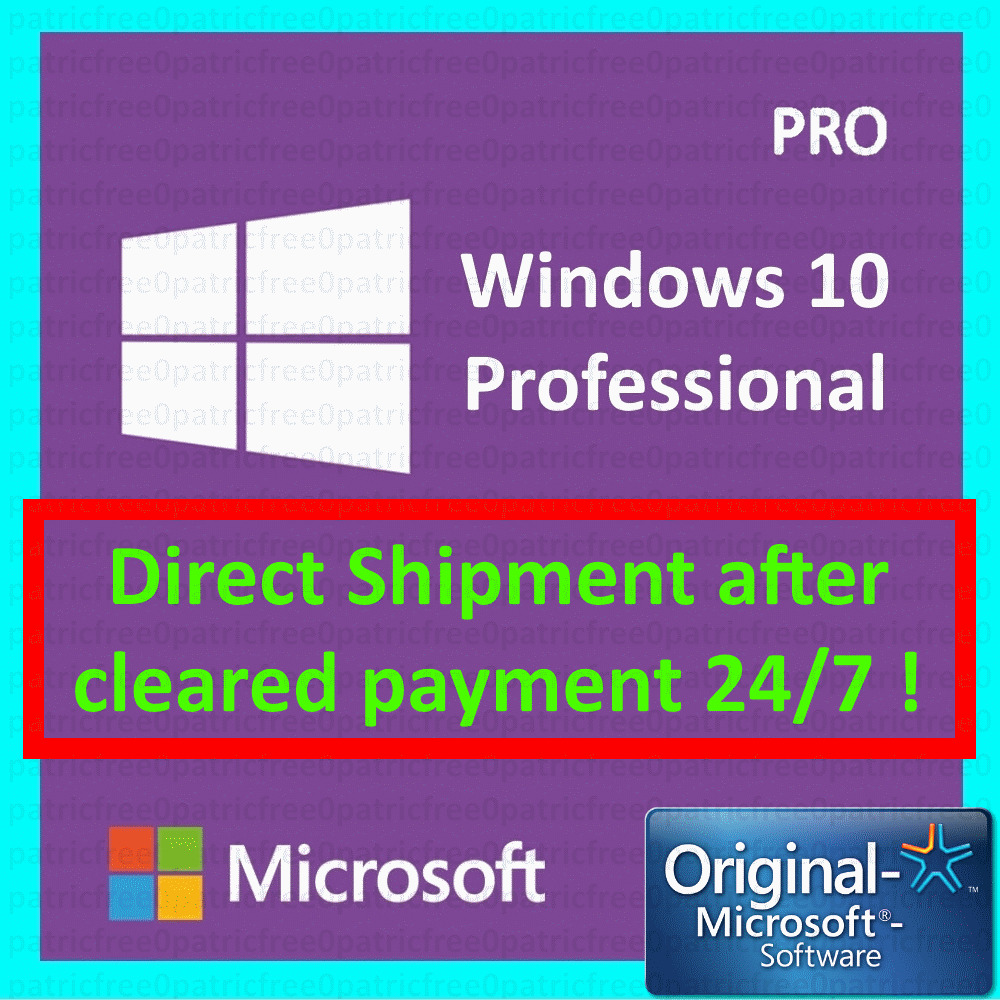 windows 10 pro professional 32 64bit genuine license key ebay. Black Bedroom Furniture Sets. Home Design Ideas