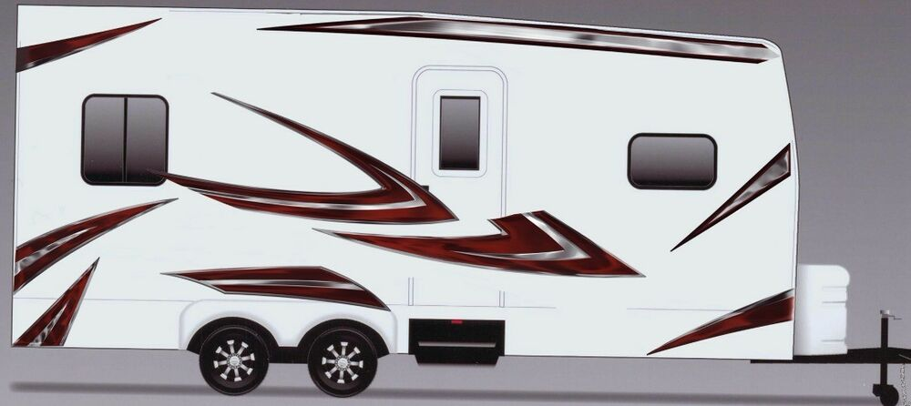 Rv trailer camper motorhome large vinyl decals graphics for Decals for rv mural