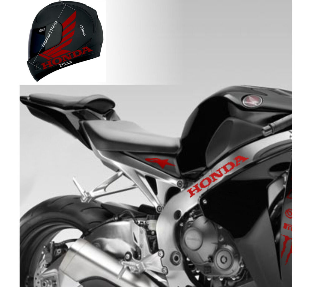 honda cbr stickers for helmet decal motorcycle parts dot shoel arai bell ebay. Black Bedroom Furniture Sets. Home Design Ideas