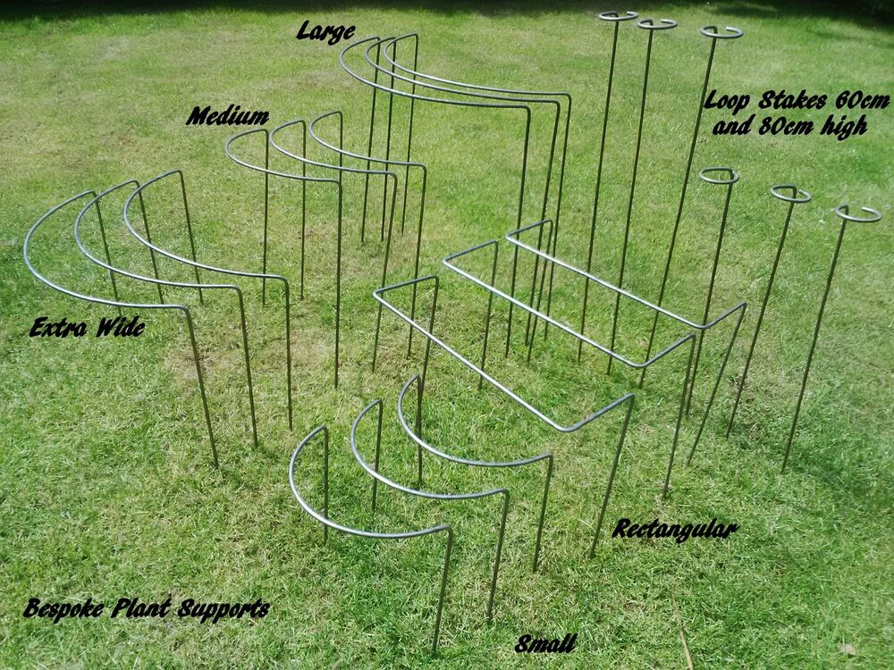 Metal plant supports and stakes various sizes designs ebay for Garden 50 designs to help you destress