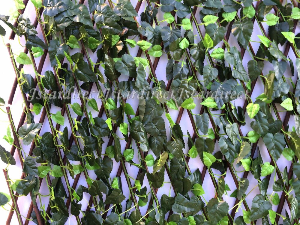 Expandable Faux Ivy Trellis Hedge Plant For Both Outdoor