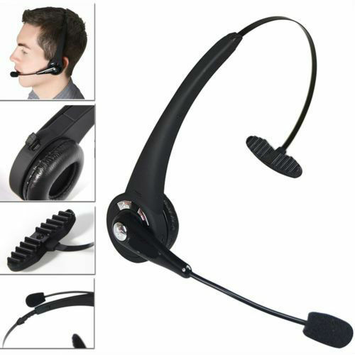 Noise Cancelling Wireless Handsfree Bluetooth Boom Mic Headset For Trucker TN 743828063344