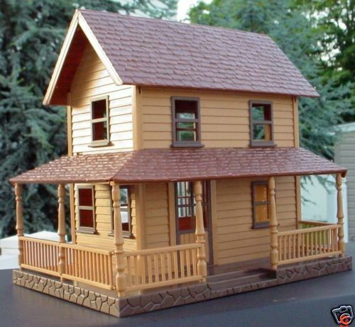 2 story farm house with wrap around porch 1 32 1 24 ebay for Homes with porches all the way around