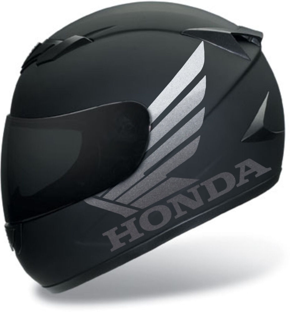 2 x honda sticker for helmet decal motorcycle parts dot shoel arai bell ebay. Black Bedroom Furniture Sets. Home Design Ideas