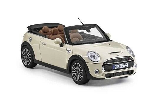 Details About Genuine Mini Convertible 2016 Miniature Cast Model Car Toy White 80432405582