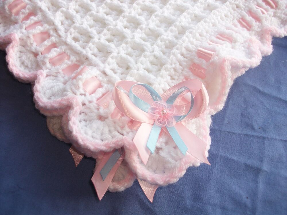 BABY CROCHET PATTERN, EASY TO FOLLOW. CHRISTENING SHAWL OR ...