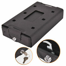 Hand Gun Pistol Handgun Safe Lock Box w/ Cover For Cash Jewelry Security Locker