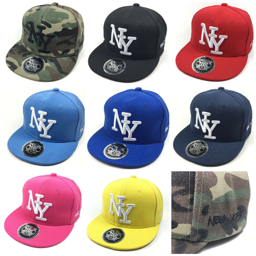 kinder cap ny snapback baseball caps kappe unisex new york. Black Bedroom Furniture Sets. Home Design Ideas