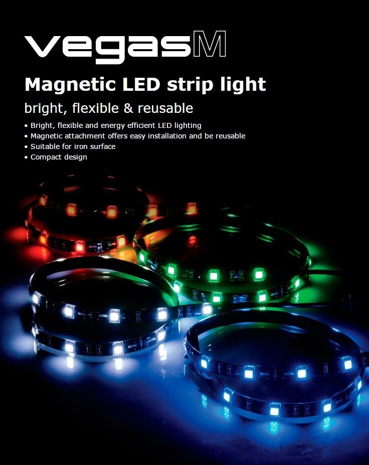 Akasa vegas m green magnetic 15 x led strip light bright akasa vegas m green magnetic 15 x led strip light bright flexible reusable mozeypictures Image collections