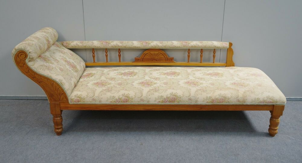 Lovely antique style reproduction blackwood chaise lounge for Antique style chaise lounge