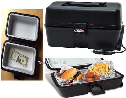 Food Warmer Oven ~ Cigarette lighter vehicle portable stove v warmer oven