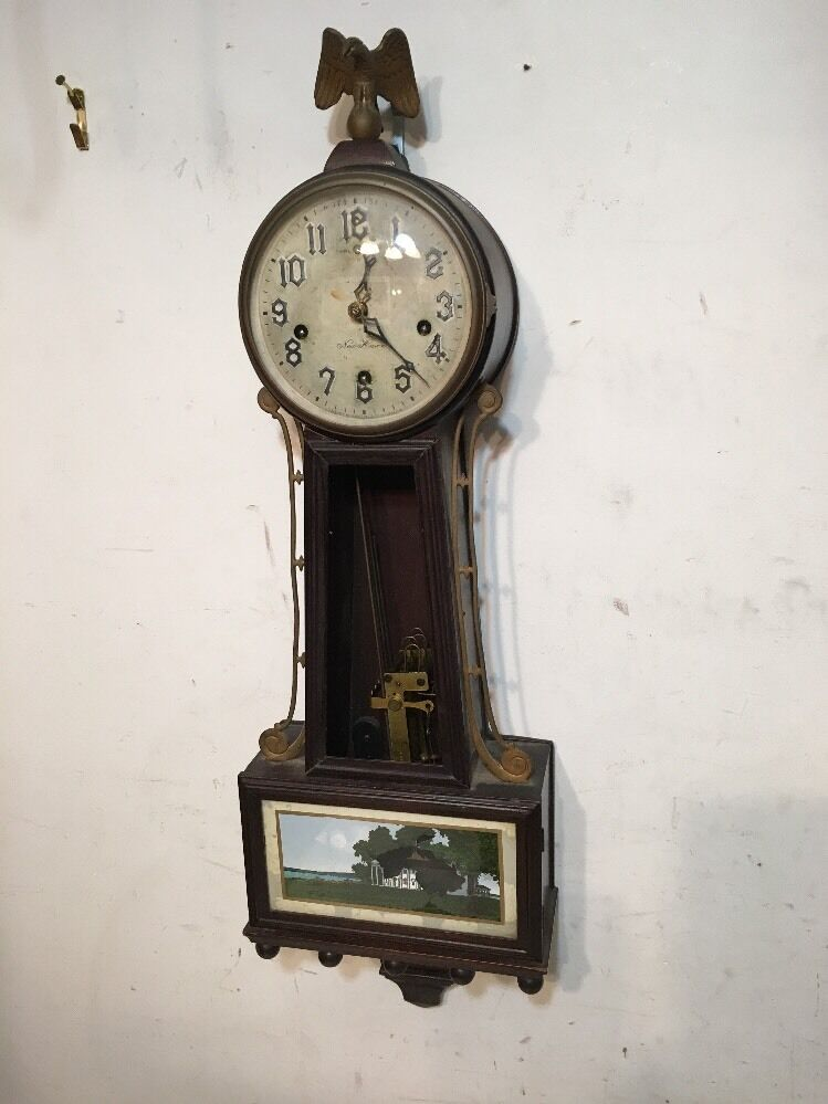Rare New Haven Winsome Westminster Chime Banjo Clock