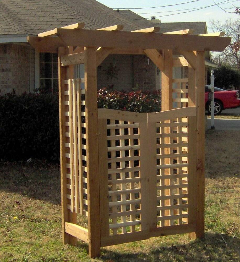 Arbor Over Gate Ideas: NEW DELUXE CLASSIC ALL CEDAR GARDEN ARBOR PERGOLA ARCH