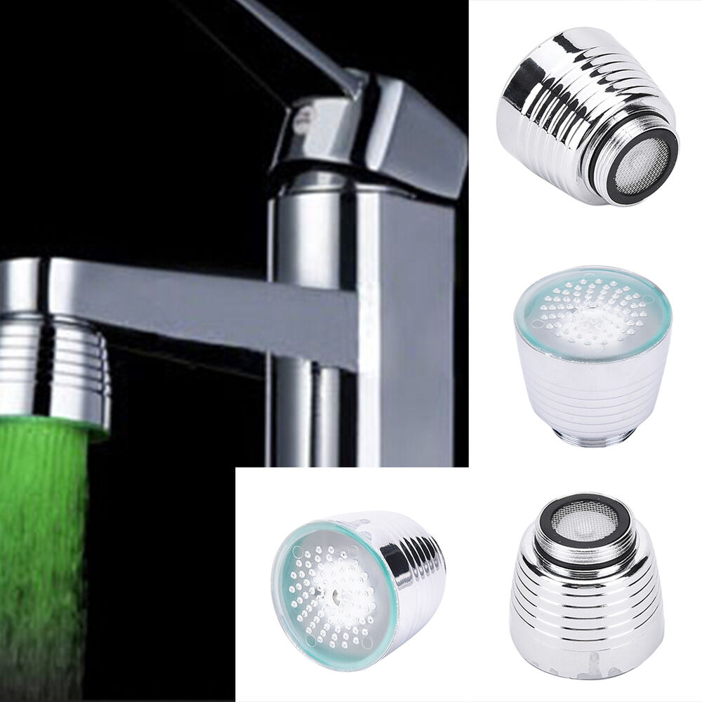 LED Water Faucet Light 7Colors Changing Glow Shower Stream