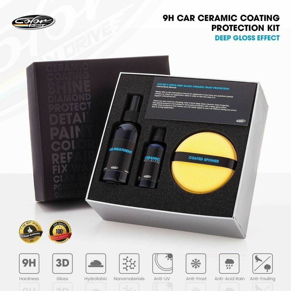 Car Detailing Supplies >> 9H Car Ceramic Coating Paint Protection Kit - Color N Drive Deep Gloss | eBay