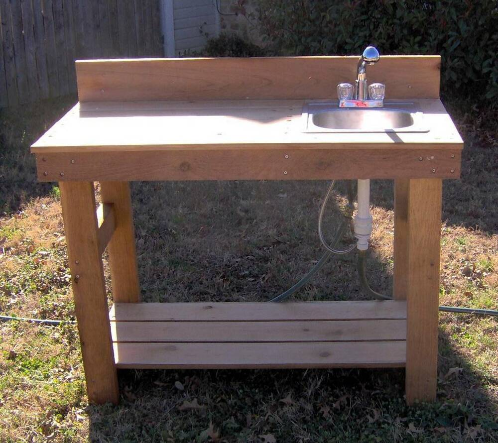 NEW 4FT CEDAR POTTING BENCH GARDENING BENCHES WITH SINK ... on Patio Sink Station id=78627