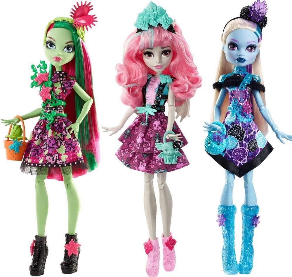 Monster high party ghouls venus mcflytrap rochelle goyle - Monster high venus ...