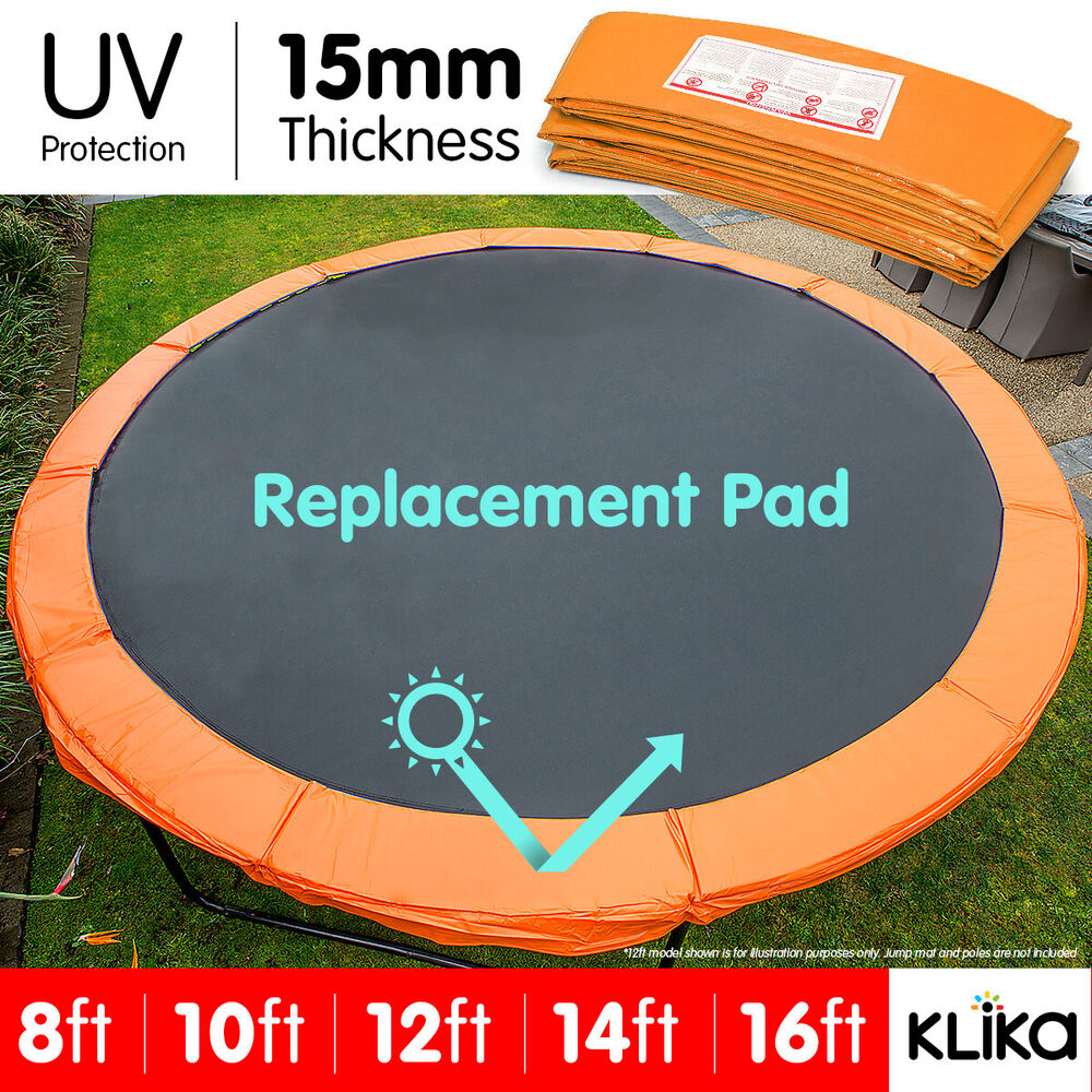 14 Round Spring Pad Rust: REPLACEMENT TRAMPOLINE PAD REINFORCED OUTDOOR ROUND SPRING