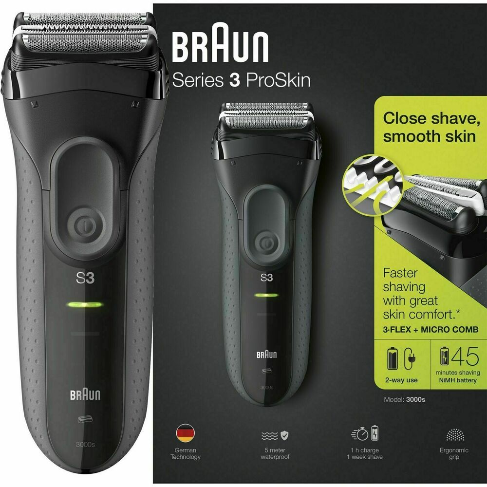 Braun Series 3 Proskin 3000s Men Electric Rechargeable