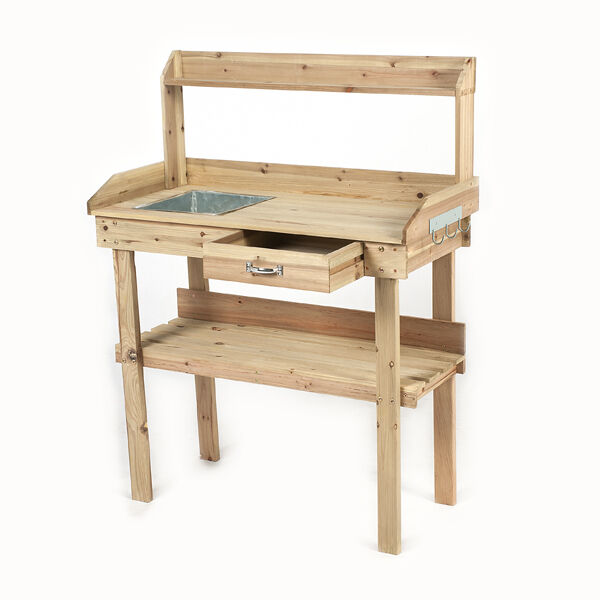 Potting Table Bench Garden Outdoor Storage Wood Plant Patio Greenhouse Equipment Ebay
