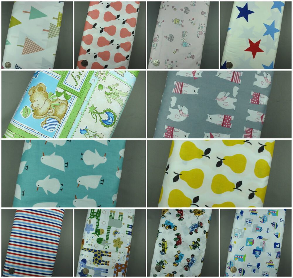 New 100 cotton children kids print fabric crafting for Childrens dress fabric