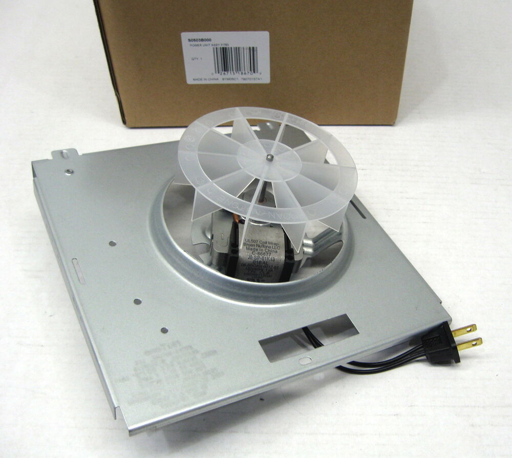 Broan Nutone S0503b000 Bathroom Fan Motor Assembly Ebay