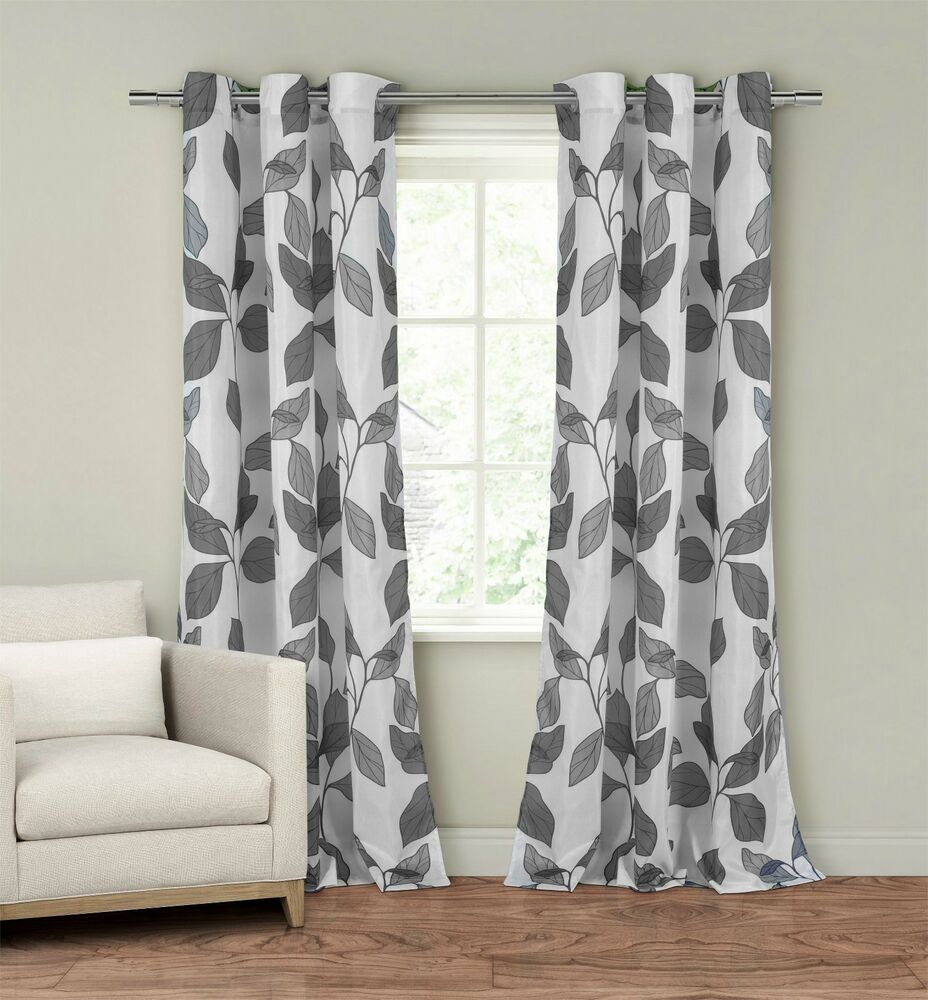 Set of Two 2 Window Curtain Panels 110 x 84 Grommets