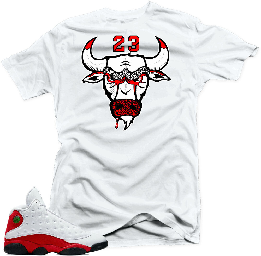 shirt to match air jordan 13 chicago sneakers bull23 white. Black Bedroom Furniture Sets. Home Design Ideas
