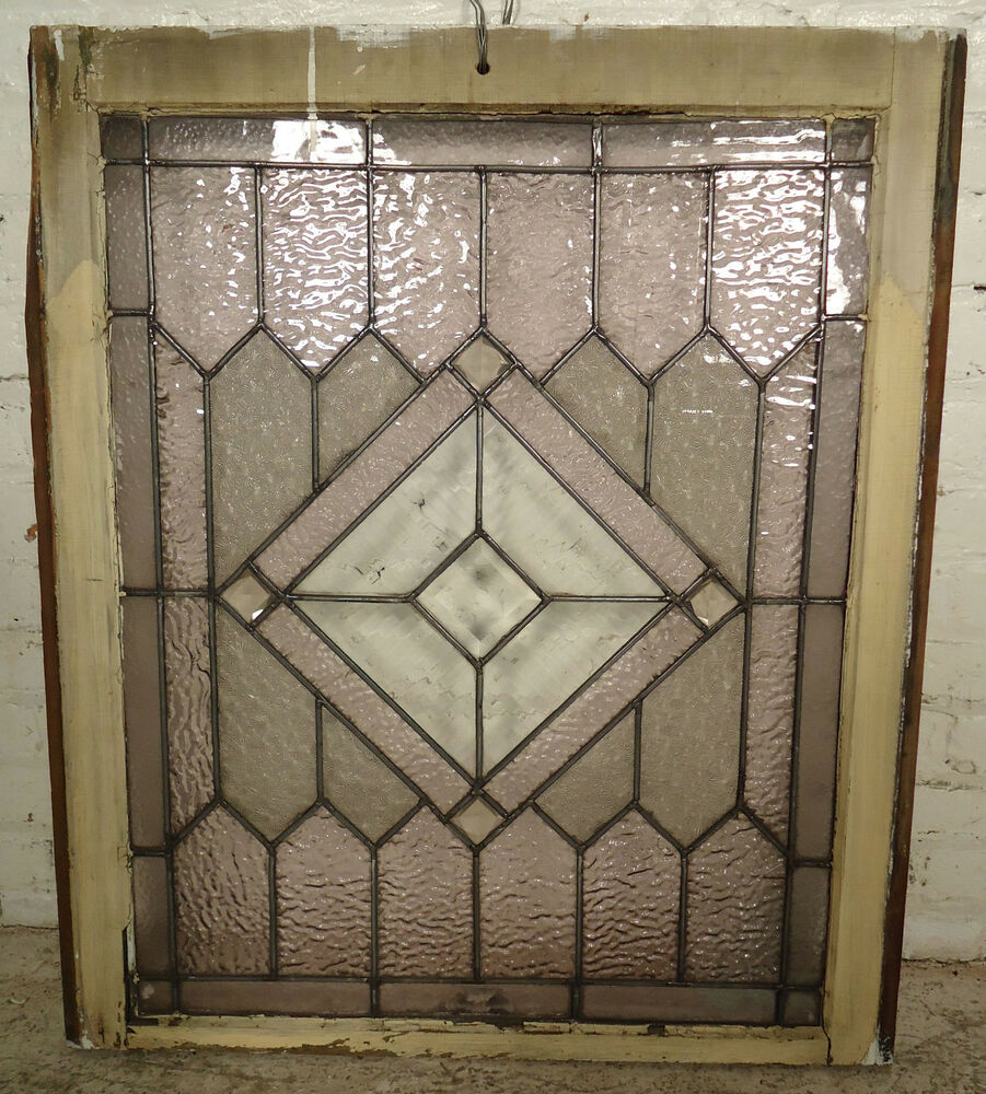 Vintage antique stained glass window 2033 ns ebay for Glass windows