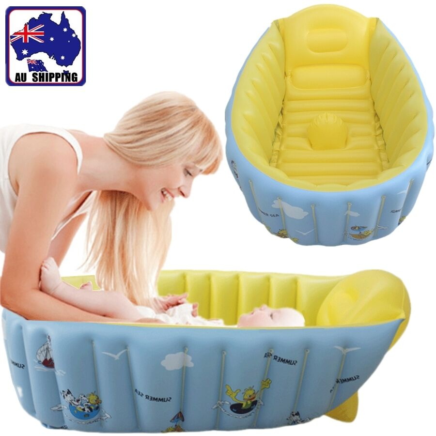 inflatable baby tub travel baths showers soft pvc newborn infant biba48603 ebay. Black Bedroom Furniture Sets. Home Design Ideas