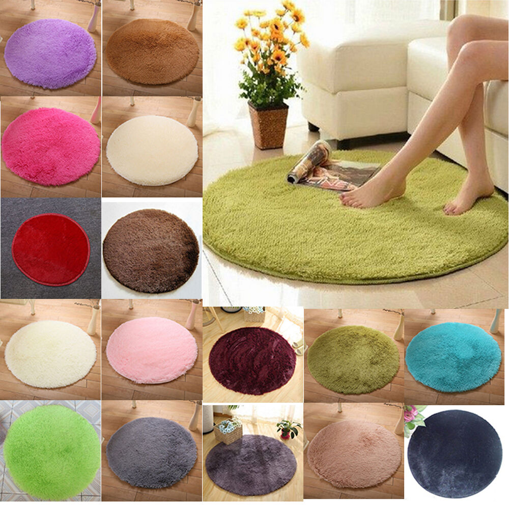 Throw Rugs In Bedroom: Soft Shaggy Area Round Rug Living Room Carpet Bedroom