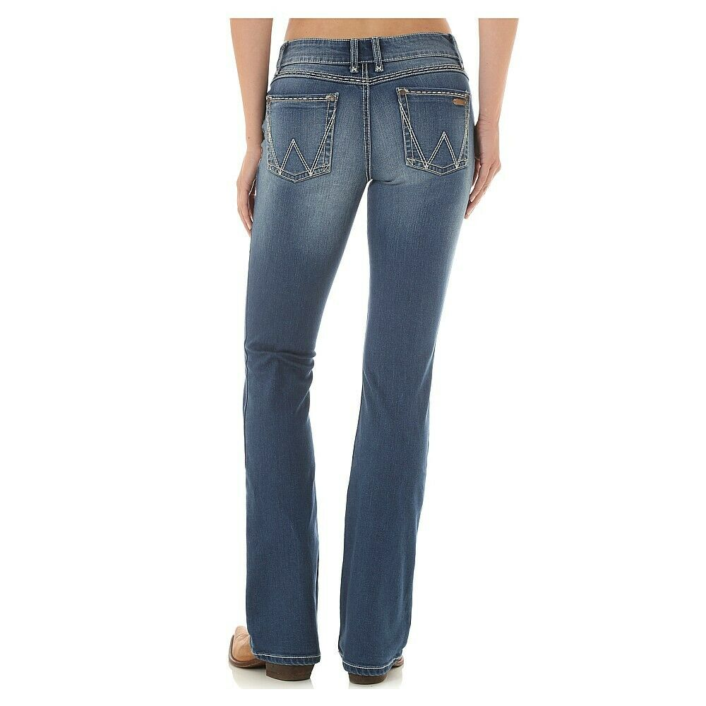53ea71ba11 Details about 09MWZJD Women s Wrangler Retro Mae Mid Rise Boot Cut Jean NEW